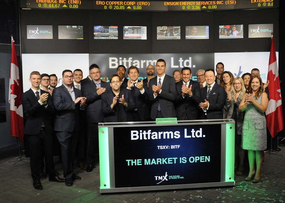 Bitfarms Ltd. Opens the Market (CNW Group/TMX Group Limited)
