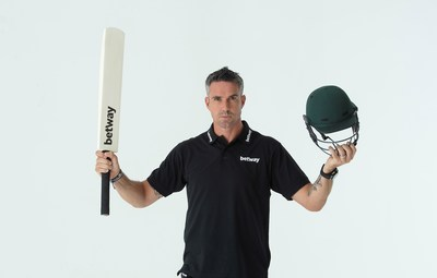Kevin Pietersen Has Signed a Deal to Become Betway's Global Cricket Ambassador for 2019 (PRNewsfoto/Betway)