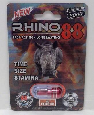Rhino 88 Platinum 8000 (Groupe CNW/Santé Canada)