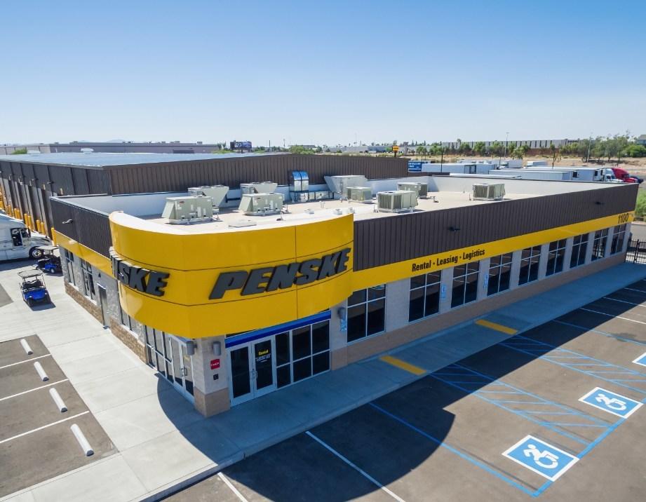 Penske Truck Leasing's new facility in Phoenix, Arizona