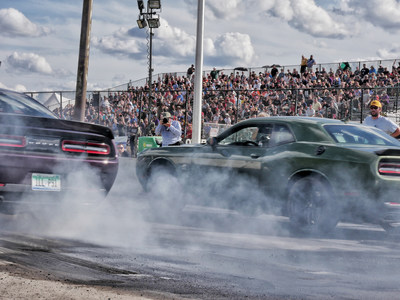 Fifth annual 'Roadkill Nights Powered by Dodge' draws nearly 50,000 performance enthusiasts to street-legal drag racing on Woodward Avenue in Pontiac, Michigan