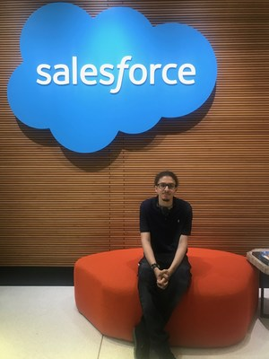 Kristian Goris at his job at Salesforce.