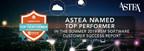 Astea International Named Top Performer in the Summer 2019 FSM Software Customer Success Report