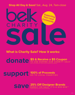 Belk's Back-to-School Charity Sale Showcases the Power of Five-Dollar Donations to Local Nonprofits