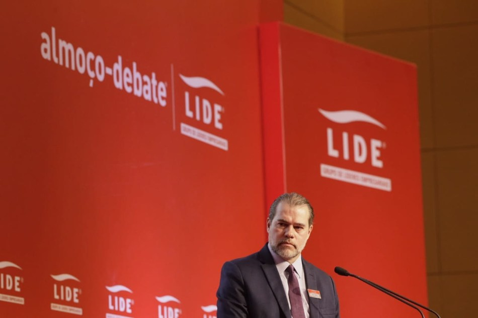 Ministro José Antônio Dias Toffoli, presidente do STF, em Almoço-Debate LIDE (Crédito/foto: Anderson Timóteo/Rampini Produções)