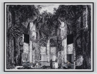 Gisele Amantea, Faux Site, Museum (after Piranesi), 2017, Impression à jet d'encre pigmentée sur papier archives, 109 × 144 cm, Photo : avec l'aimable permission de l'artiste (Groupe CNW/Musée d'art contemporain de Montréal)