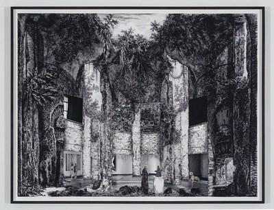 Gisele Amantea, Faux Site, Museum (after Piranesi), 2017, Impression à jet d'encre pigmentée sur papier archives, 109 × 144 cm, Photo : avec l'aimable permission de l'artiste (Groupe CNW/Musée d'art contemporain de Montréal)