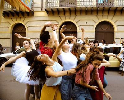 Marinella Senatore, Palermo Procession 6 (photographie de production), 2018, Performance publique, Photo : avec l'aimable permission de l'artiste (Groupe CNW/Musée d'art contemporain de Montréal)