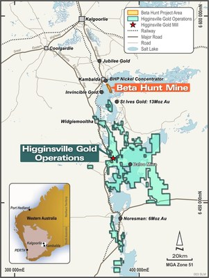 Figure 1: Integrated Beta Hunt – Higginsville Gold Operations (CNW Group/RNC Minerals)