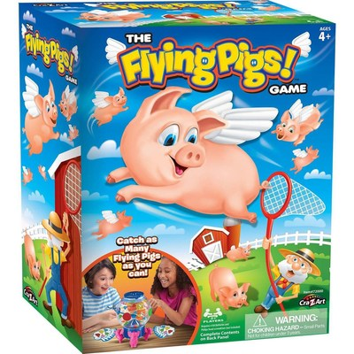 """Catch 'em if you can with """"Flying Pigs,"""" the new preschool game that confirms pigs really do fly!"""