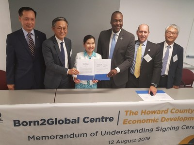 Born2Global and Howard County Economic Development Authority Sign
