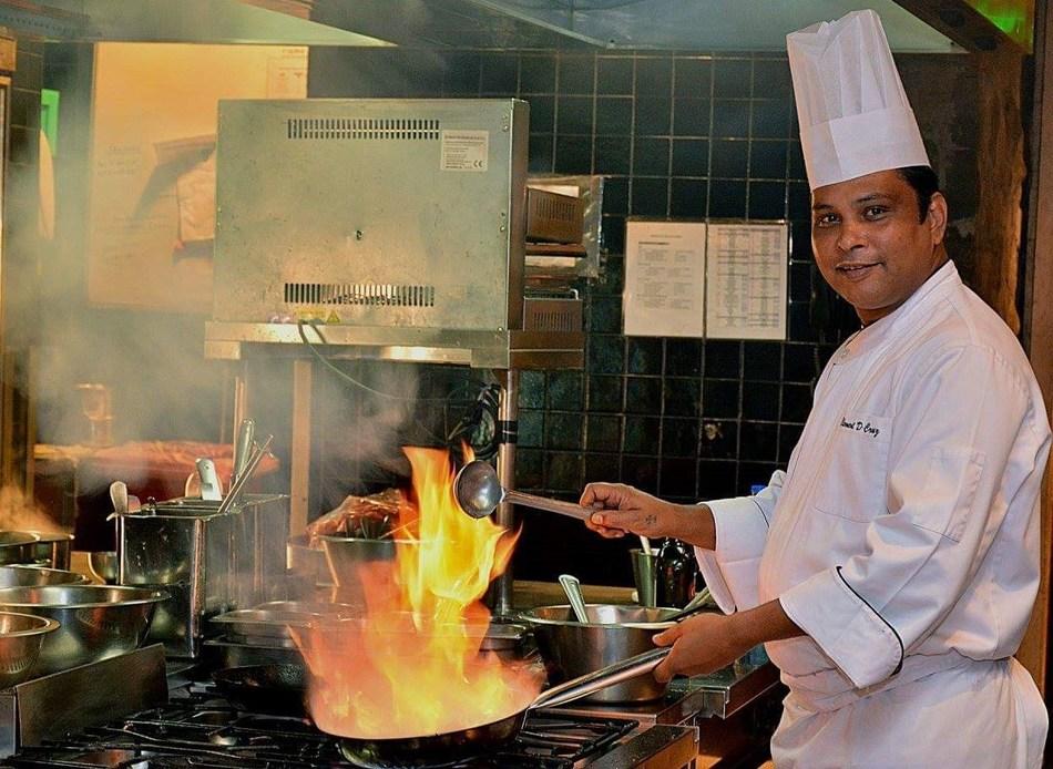 Chef Clement at Hyatt Regency Kitchen (PRNewsfoto/International Institute of Hote)