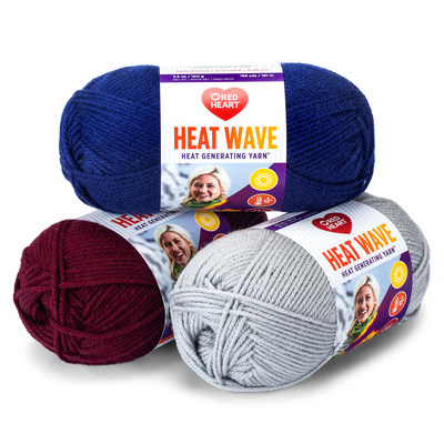 Red Heart®  is revolutionizing the knitting industry with the launch of Red Heart Heat Wave™, an innovative heat generating yarn™ that takes wearable tech to warmer temperatures. (Photo Credit: Red Heart)