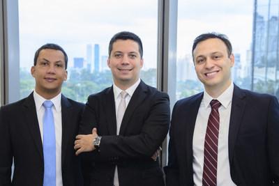 Da esquerda para a direita os sócios: Frederico Cintra, Vinícius Serra e Daniel Dias