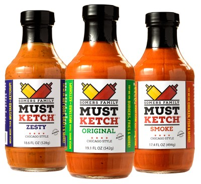 Somers Family MustKetch, a new condiment category combining a proprietary mustard and ketchup recipe – along with an array of spices and natural flavors – is now available through Norman Distribution in Chicago.