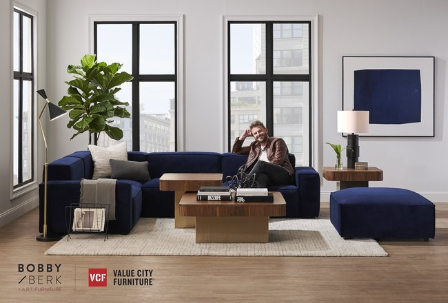 American Signature, Inc., parent company of Value City Furniture (VCF) and American Signature Furniture (ASF), announced today that a curated selection of design guru Bobby Berk's new collection with A.R.T. Furniture will be available in VCF and ASF stores and online this October, bringing Berk's fans a high-style designer collection with styles offered at affordable prices.