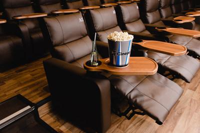 Theater seating at Cinépolis Luxury Cinemas West Hartford