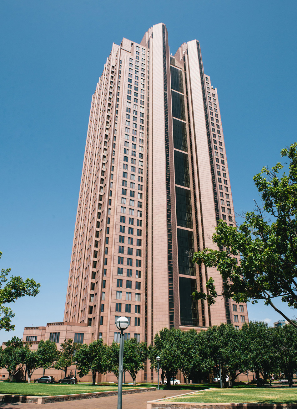 Cityplace Tower in Uptown Dallas will house a five-star hotel operated by IHG® (InterContinental Hotels Group). NexPoint, the affiliate of Highland Capital Management that acquired Cityplace Tower in 2018, has additional upgrades planned for the iconic building and surrounding acreage. The InterContinental® Hotels & Resorts branded luxury property is expected to open at Cityplace in 2022. | Photo: Matt McElligott/Matt McElligott Photography