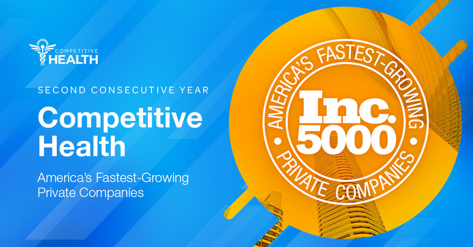 Competitive Health, Inc. ranks in Inc. 5000 for second consecutive year.