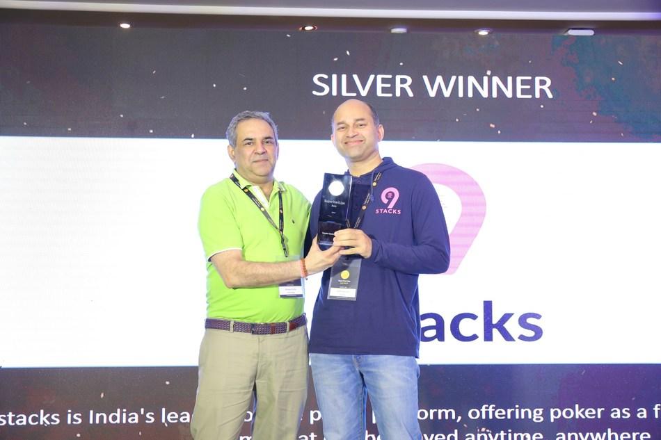 Sudhir Kamath, CEO, 9stacks receiving the SSU Asia award 2019