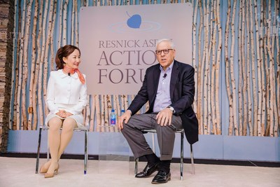Ctrip CEO Jane Sun (left), in conversation with Co-Chairman of The Carlyle Group, David Rubenstein