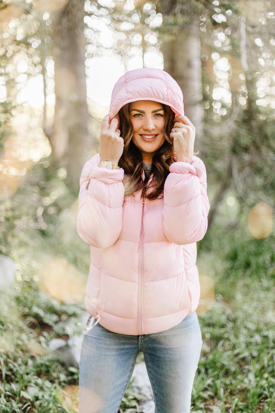 Jillian Harris wearing the Jilly Jacket (CNW Group/Loblaw Companies Limited - Joe Fresh)