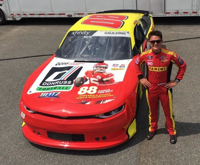 Panini America teams with NASCAR driver Gray Gaulding to bring NFL MVP Patrick Mahomes to Bristol Motor Speedway for Friday's Food City 300.