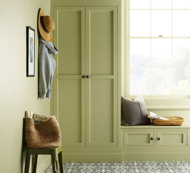 Bring the outside in with Back To Nature in your mudroom or entry way.