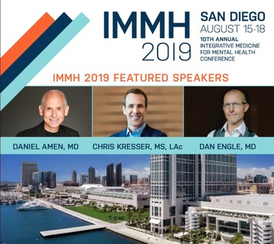 Dr. Daniel Amen to speak at the Integrative Medicine for Mental Health (IMMH) Conference 2019 on Friday, August 16.