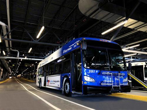 Laval : Premier autobus électrique urbain d'une autonomie de 250 km au Québec - Crédit : Société de transport de Laval (Groupe CNW/Société de transport de Laval)