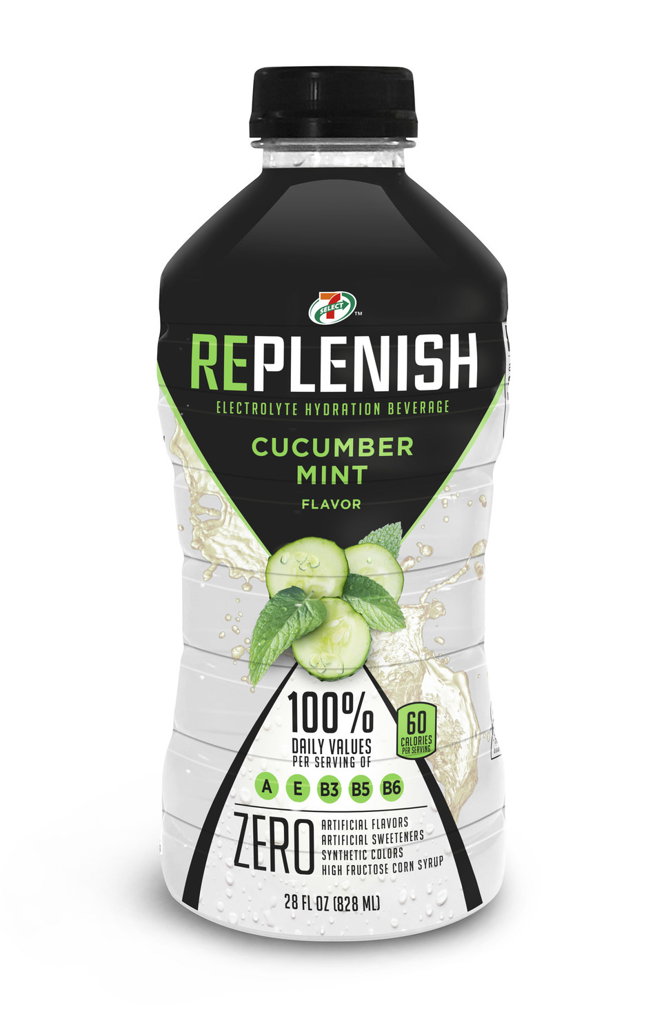 7-Select Replenish™ is a new sports drink (isotonic) that contains no artificial sweeteners or high-fructose corn syrup. Available exclusively at 7-Eleven stores, 7-Select Replenish is available in four flavors: lemonade, orange mango, cucumber mint, and guava splash. While the everyday suggested retail price is $1.99, customers can take advantage of a limited-time buy one-get one free offer.
