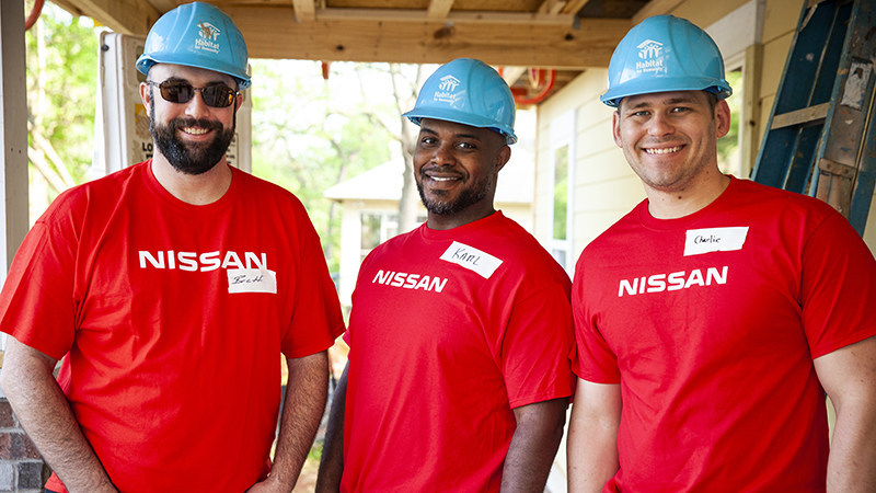 For the past 14 years, Nissan employees have worked alongside families to help them build their homes as part of a national partnership with Habitat for Humanity.