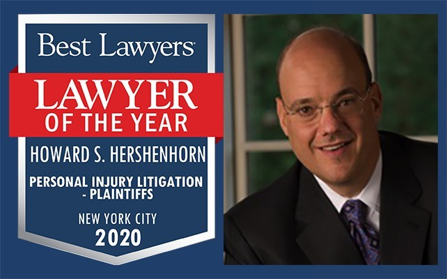 Howard Hershenhorn, a partner at Manhattan law firm Gair, Gair, Conason, Rubinowitz, Bloom, Hershenhorn, Steigman & Mackauf was named NYC Personal Injury Lawyer of the Year 2020 by Best Lawyers