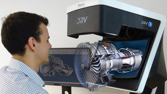 The HD 3D image of an engine component produced by the DRV-Z1 microscope