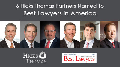 Six with Texas-based Hicks Thomas Earn Best Lawyers in America Honors