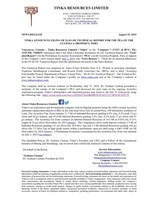 Tinka Announces Filing of NI 43-101 Technical Report for the PEA on the Ayawilca Property, Peru (CNW Group/Tinka Resources Limited)