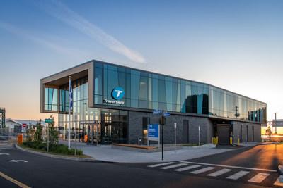 Sorel_Extérieur : La nouvelle gare de Sorel-Tracy a été construite en vue d'obtenir la certification LEED. (Groupe CNW/Société des traversiers du Québec)
