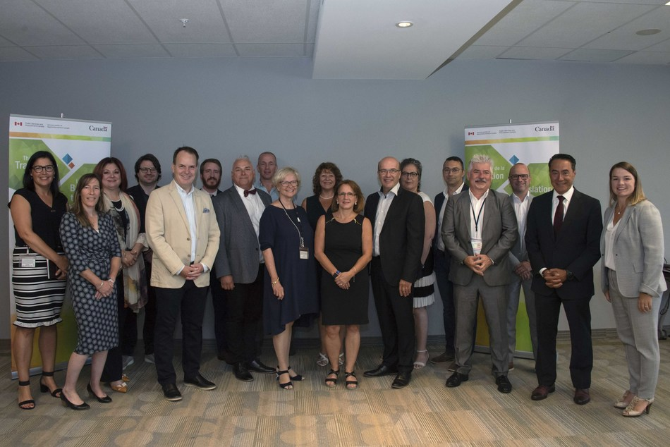 Steven MacKinnon, Parliamentary Secretary to the Minister of Public Services and Procurement and Accessibility; Stéphan Déry, Chief Executive Director, Translation Bureau; and the Committee members. (CNW Group/Public Services and Procurement Canada)