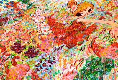 Ayako Rokkaku, Untitled (ARP18-024), 2018, acrylic on canvas, 200 x 300 cm., signed.
