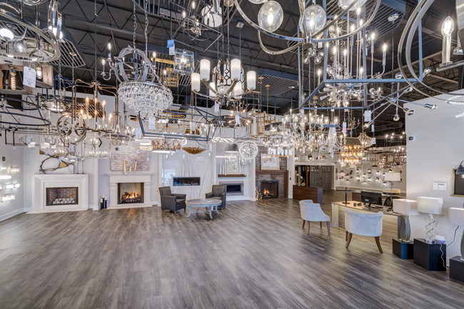 Featuring hundreds of lighting fixtures, fireplaces and much more
