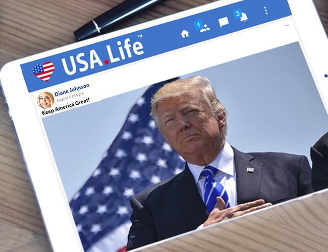 Pro-Trump USA.Life Social Network