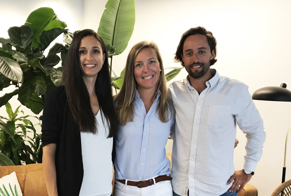 Nudge Rewards co-founders (from left) Dessy Daskalov, Chief Technology Officer and Co-Founder; Lindsey Goodchild, Chief Executive Officer and Co-Founder; Jordan Ekers, Chief Customer Officer and Co-Founder.