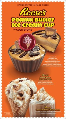 Cold Stone Creamery introduces a new Reese's Creation and Reese's Shake highlighting a new mix-in, Reese's Peanut Butter Sauce.