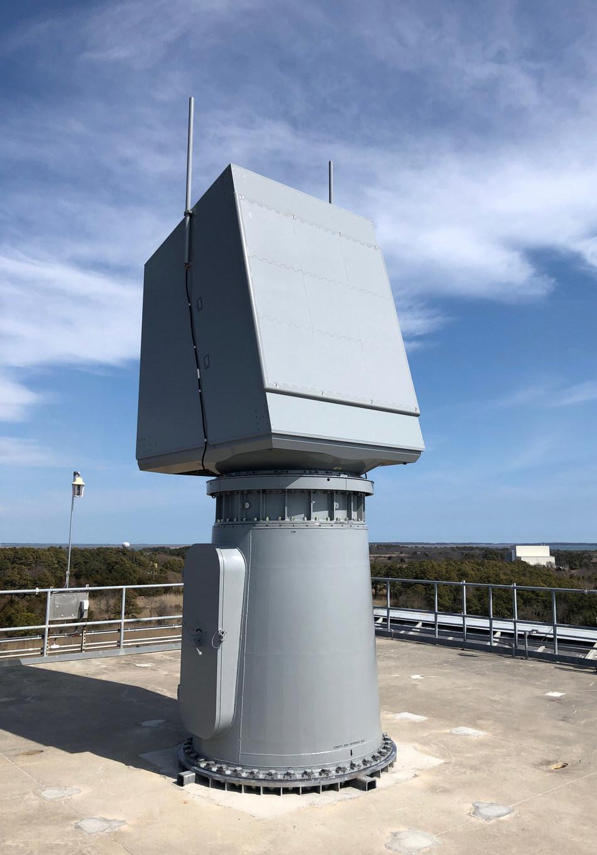 AN/SPY-6(V)2, the Enterprise Air Surveillance Radar rotator variant, installed at the Surface Combat Systems Center at Wallops Island, Virginia.
