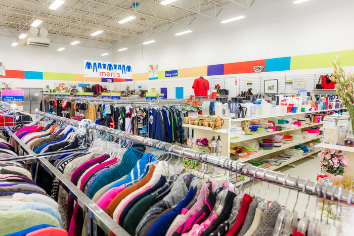 The Salvation Army Thrift Store is celebrating National Thrift Shop Day with the millions of people who love to thrift  and who make donations of clothes and household items.  The event is happening in all of its 106 stores across Canada this August 17, 2019. (CNW Group/The Salvation Army)