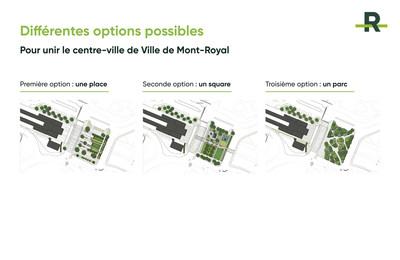 Différentes options possibles (Groupe CNW/Réseau express métropolitain - REM)