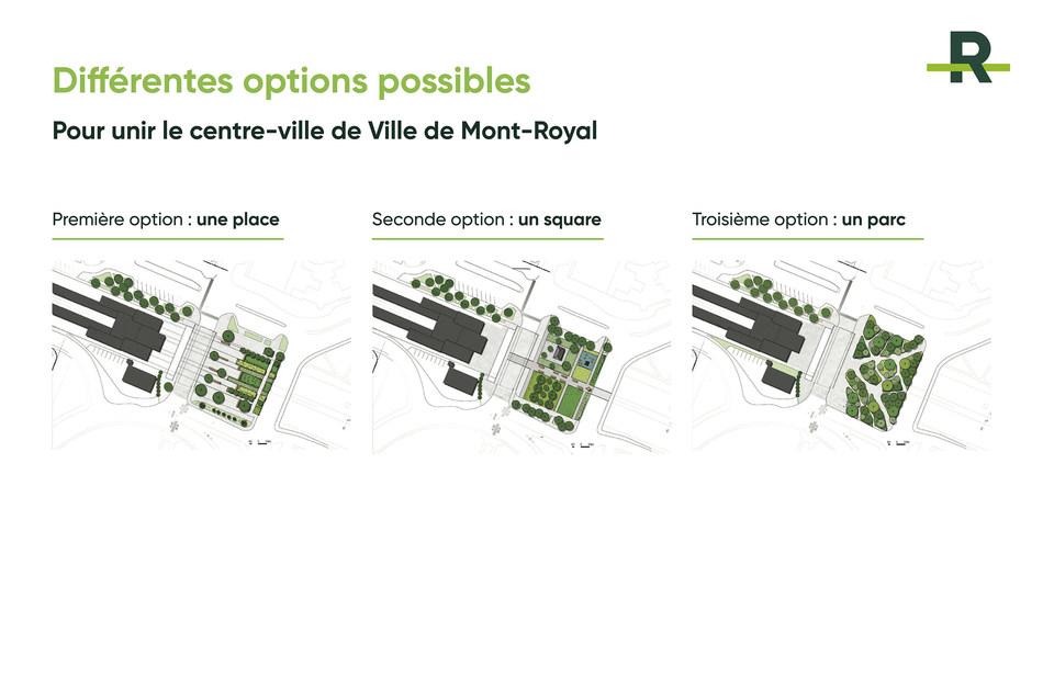 Different possible options (CNW Group/Réseau express métropolitain - REM)