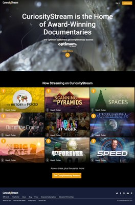 Altice USA's Optimum and Suddenlink customers now have complimentary access to CuriosityStream's thousands of shows.