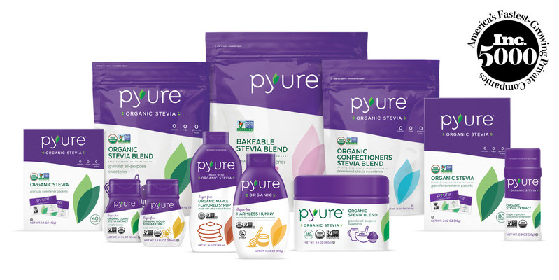 Naples, FL, August 19, 2019 -- Pyure® Brands, the leading independent organic sweetener company, is named to the 2019 Inc. 5000 List of America's Fastest-Growing Private Companies. The Company serves global food, beverage, cosmetic and nutraceutical brands and manufacturers, and is among 11 food and beverage companies that has made the Inc. 5000 list four times.