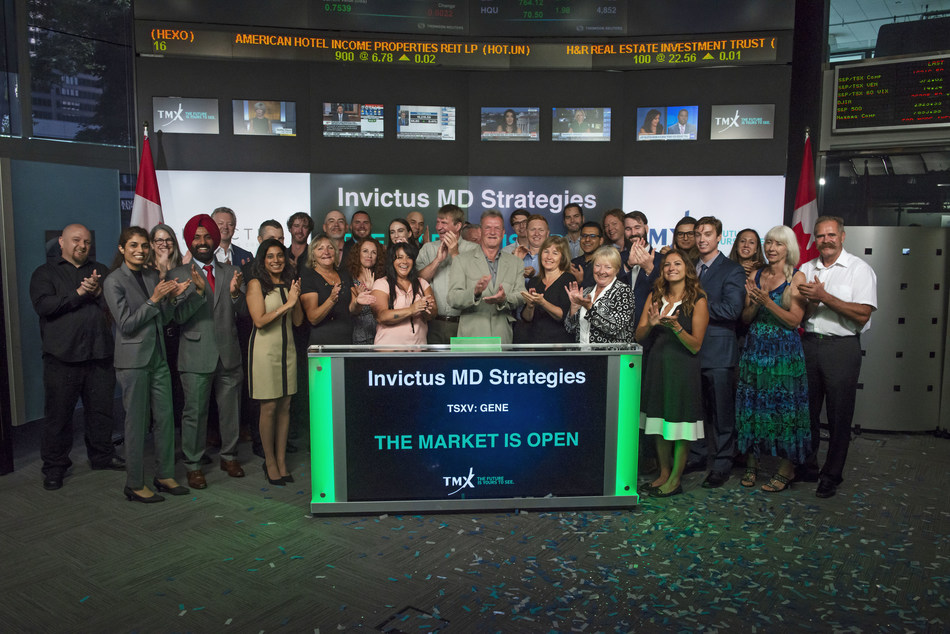 Invictus MD Strategies Corp. Opens the Market (CNW Group/TMX Group Limited)